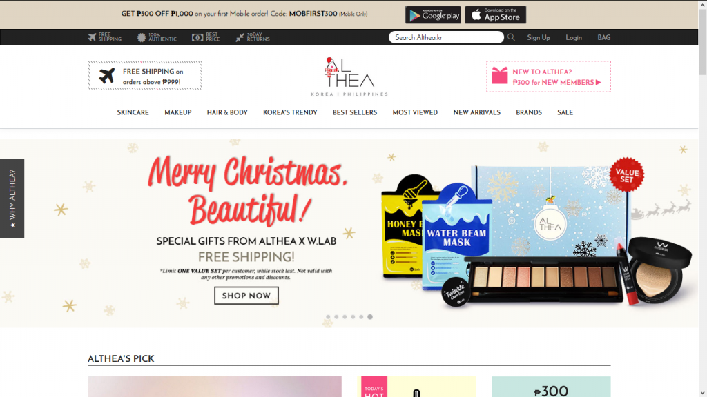 althea philippines coupon code